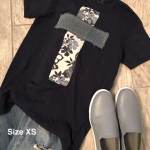 Tops - Rugged Cross Distressed Recycled Short Sleeve Tee